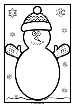 Snowman  -  lift-the-flap template