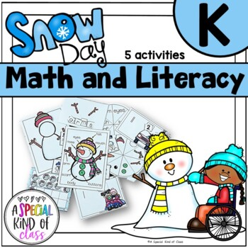 Snowman literacy and math activities