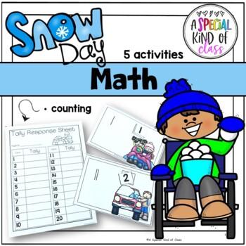 Snowman literacy and math activities