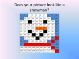 Snowman mystery picture Powerpoint