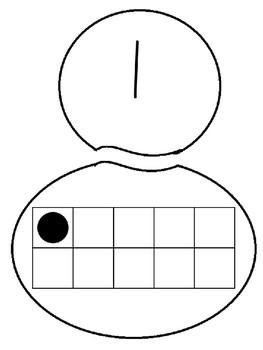Snowman number building