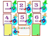 Winter Activities - Math - Flash Cards - Numbers - Snowman - Writing