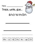 Snowman: print, trace, glue