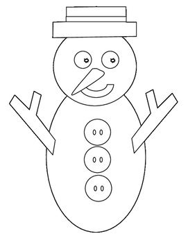 Snowman puppet or treat bag