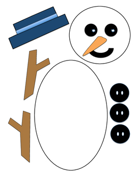 Snowman puppet or treat bag