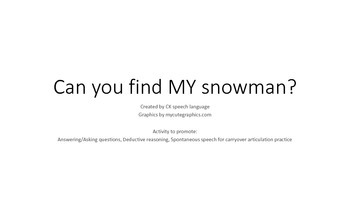 Freebie: Winter Ask/Answer questions : Can you find MY Snowman?
