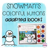 Snowman's Colorful Button Adapted Book