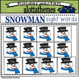 Snowman sight word printables
