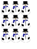 Snowman themed ABC/abc match game