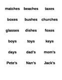 Snowman themed plural and possessive noun word sort
