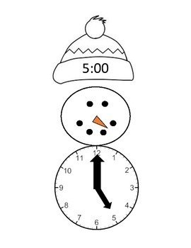 Snowman time analog/digital match up