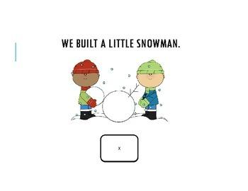 Snowman: winter interactive language book and activities