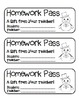 """""""Snowman with Bowtie"""" Homework Pass –Holiday FUN! (full color & black line)"""