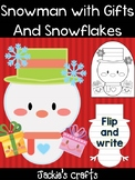 Snowman with Gifts and Snowflakes - Jackie's Crafts, Winter Activity