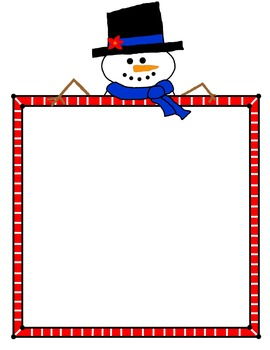 Snowman with frame