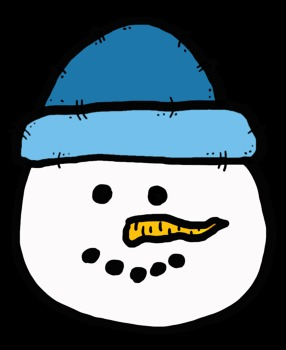 Snowman with winter hat