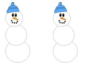 Snowman math workmat
