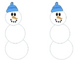 Snowman math workmat