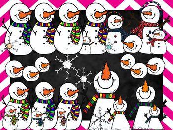 Snowman/Snowflake Clipart Set