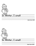 Snowman/Winter 5 Senses Book