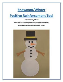 Snowman/Winter Positive Reinforcement Tool
