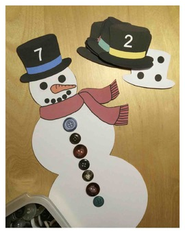 Snowman's Buttons - A Number and Quantity Activity