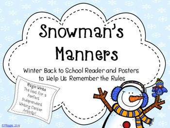 Snowman's Manners Writing Activity Booklet and Posters