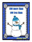 Snowmen - 100 More Than & 100 Less Than