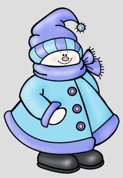 Snowmen 2 Clip Art Whimsy Workshop Teaching