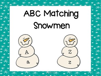 Snowmen ABC Matching