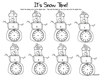 Snowmen! Activities For Math and Literacy