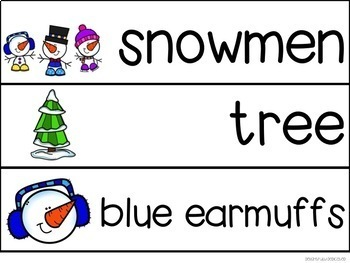 Snowmen Adapted Book & Student Book for Early Childhood Special Ed