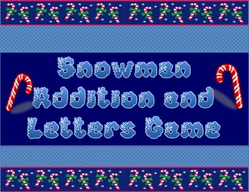 Snowmen Addition & Letters Fun/ Create Your Own Snowman