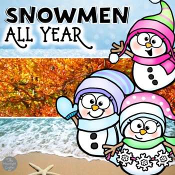Snowmen All Year Book Companion and Centers