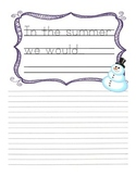 Snowmen All Year Creative Writing Packet--Kindergarten, Seasons