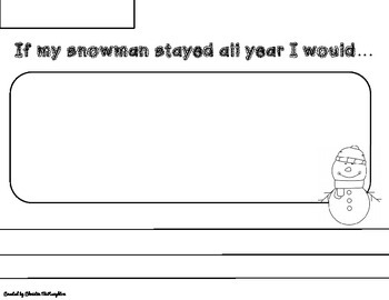 Snowmen All Year Writing Activity