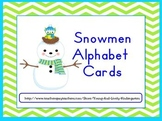 Snowmen Alphabet Cards