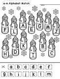 Snowmen Alphabet Match