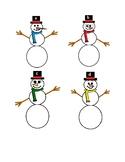 Snowmen Alphabet Matching