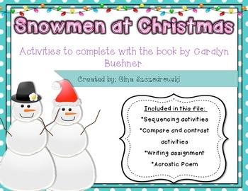 Snowmen At Christmas.Snowmen At Christmas Activities