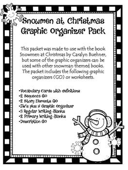 Snowmen At Christmas Graphics Organizer Packet