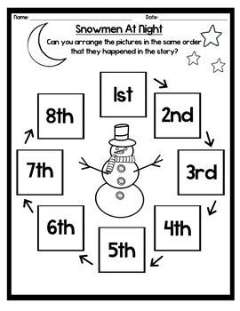 Snowmen At Night - Craft & Writing Activities