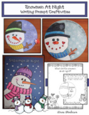 Snowmen At Night Winter Snowman Craft & Writing Prompts