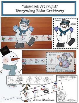 "Winter: Snowmen Activities: ""Snowmen At Night"" Storytelling Slider Craft"