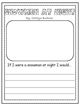 Snowmen At Night Worksheets
