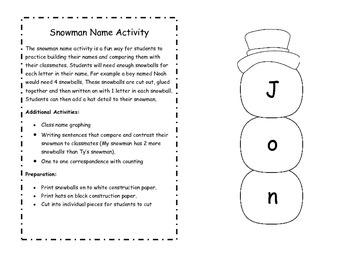 Snowmen At Night by Buehner: Math & Literacy Activities
