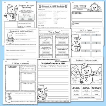 Snowmen At Night Worksheet Packet