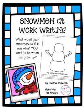 Snowmen At Work Writing