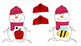 Snowmen Beginning Sound Letter Sound Match