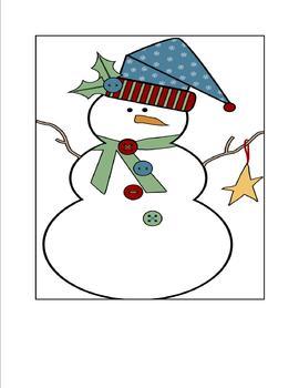 Snowmen Bingo for Preschoolers